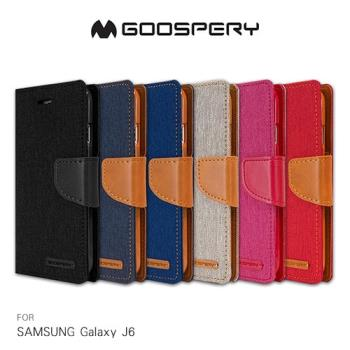 【GOOSPERY】SAMSUNG Galaxy J6 CANVAS 網布皮套