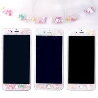 【Sanrio三麗鷗】iPhone 8 (4.7吋) 繁花系列 9H強化玻璃彩繪保護貼