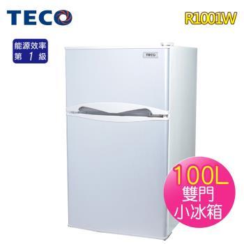 TECO 東元100L一級雙門小冰箱R1001W