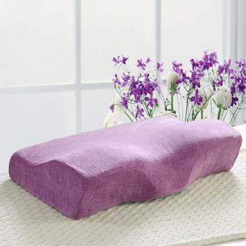 BELLE VIE 全方位保護頸椎 舒適型蝶型記憶枕 浪漫紫