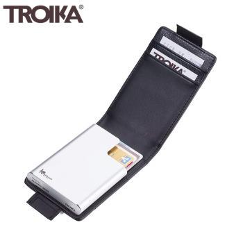德國TROIKA防感應錢包信用卡夾防RFID防NFC防側錄防盜卡夾防盜刷錢包隨身卡匣名片夾CCC83/BK