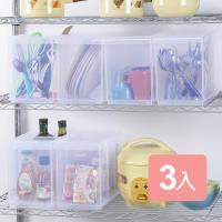 真心良品 諾可隔板多用途整理盒大款(附輪)3入組