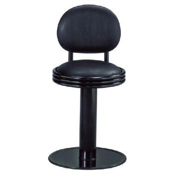 傢俱屋 瑪卡低吧台椅 黑 固定