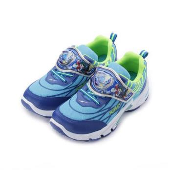 戰鬥陀螺 魔鬼氈運動電燈鞋 藍 BEKX85616 中大童鞋 鞋全家福