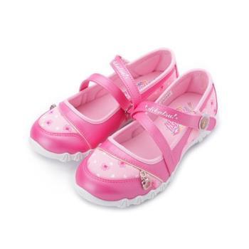 偶像學園 飾釦公主包頭涼鞋 桃 ID8917 中大童鞋 鞋全家福