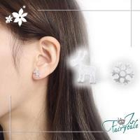【伊飾童話】北歐麋鹿*雪花電鍍造型耳環