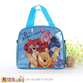 魔法Baby 便當袋 迪士尼小熊維尼授權正版提袋~f0300