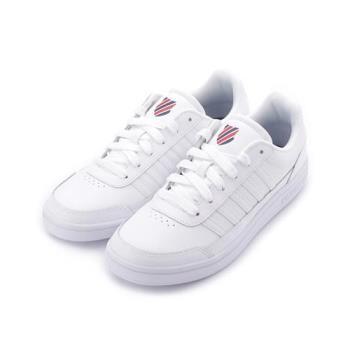 K-SWISS 單色復古綁帶休閒鞋 全白 06042130 男鞋 鞋全家福