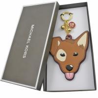 MICHAEL KORS 限量dog 狗頭鑰匙吊飾.咖色
