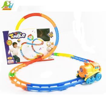 【Playful Toys 頑玩具】翻斗小火車FB-001 (翻斗小火車 火車玩具 翻跟斗 電動火車玩具 隨意拼裝 彩色軌道 無限創意 動腦想動手組)