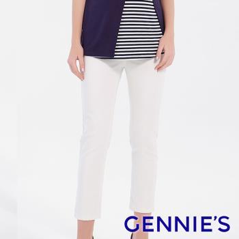 Gennies奇妮-涼感挺版精緻顯瘦長褲-白(T4F05)