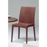 傢俱屋 麗黛絲仿藤造型椅 咖啡 白