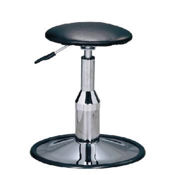 傢俱屋 保欣電金圓盤吧台椅 黑 低