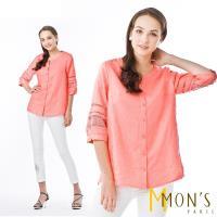 MONS高級訂製法國手工蕾絲100%亞麻衫