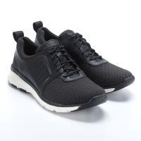Timberland男款黑色全粒面皮革休閒鞋  A1TLW015