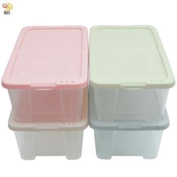 月陽多用途半透明鞋盒收納盒整理盒超值4入