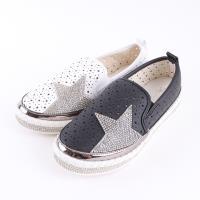 【88%】懶人鞋-跟高3CM 星星水鑽 星型透氣孔洞 舒適好穿拖 懶人鞋 休閒鞋