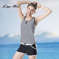 泳之美品牌 時尚二件式連身褲泳裝 NO.2362