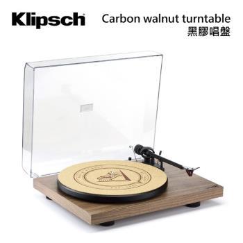 Klipsch 古力奇 核桃木色 黑膠唱盤 Carbon walnut turntable