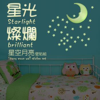 金德恩 台灣製造 6組精裝版3D星彩夜光壁貼