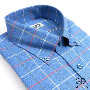 GIBBON 簡約格紋休閒襯衫‧藍色