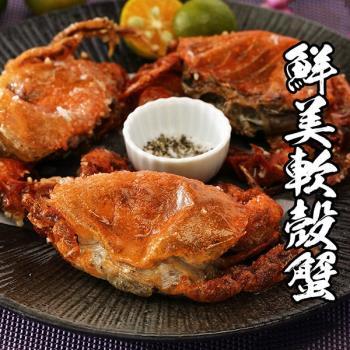 海鮮王 精選生凍鮮肥軟殼蟹 2盒組(10~14隻/700g±10%/盒)