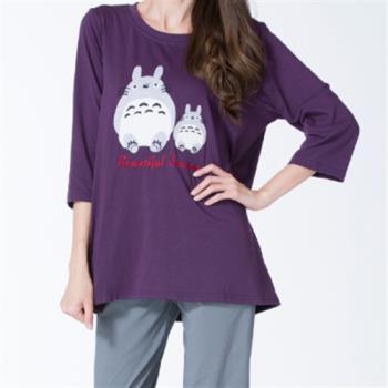 水衫童趣風貼布繡彈力棉質上衣三件組-001