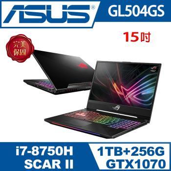 ASUS 華碩GL504GS-0041A8750H 窄邊框電競 i7-8750H/16G/1TB+PCIE 256GB SSD/GTX 1070 8G