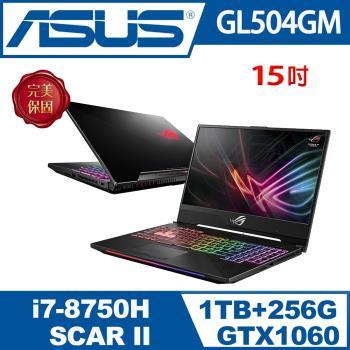 ASUS華碩ROG窄邊框電競 GL504GM-0081A8750H(i7-8750H/8G/1TB+256G PCIE SSD/GTX 1060 6G