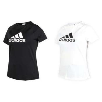 ADIDAS 女短袖T恤-短T 短袖上衣 慢跑 路跑 愛迪達