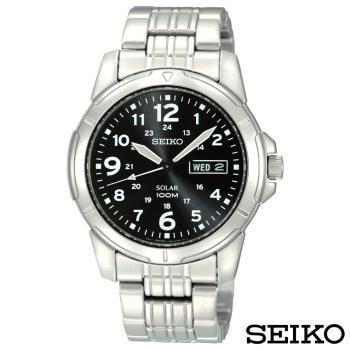 SEIKO精工  頂尖精英太陽能石英腕錶 SNE095P1