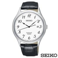 SEIKO精工  時光領袖藍寶石鏡面石英皮帶腕錶 SGEH75P1