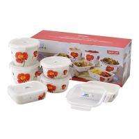 韓國NEOFLAM 陶瓷保鮮盒6件式禮盒組-紅花