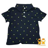 【LOVEDO-艾唯多童裝】超級巨星 潮流短袖Polo衫(深藍) BSH13428