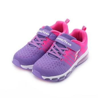 GOODYEAR 飛織氣墊運動鞋 紫粉 GAKR88257 大童鞋 鞋全家福