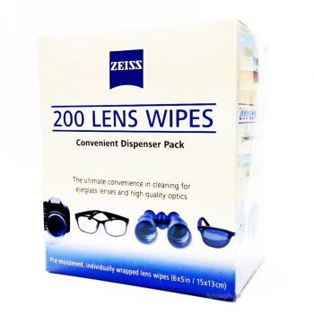 德國蔡司ZEISS Lens Wipes專業鏡片(鏡頭) 拭鏡紙 可擦拭 200入/盒 適相機鏡頭、精密顯微鏡~