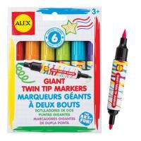 【美國ALEX】超大雙頭彩色筆