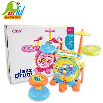 【Playful Toys 頑玩具】架子鼓 GU-1402 音樂架子鼓 兒童音樂玩具 兒童玩具 幼兒學習 音樂鼓 電子玩具