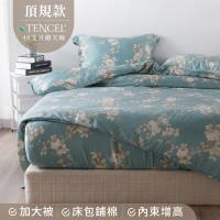 夢工場 和聲微語天絲頂規款兩用被鋪棉床包組-雙人