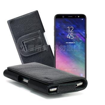 Xmart for Samsung Galaxy A6+/Galaxy A8+ 麗緻真皮腰掛皮套