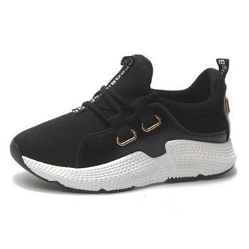 【88%】休閒鞋-網格鞋面 英文字母布標 休閒純色百搭運動鞋 潮流韓版休閒鞋
