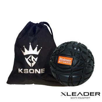 Leader X 3D立體浮點 健身按摩紓壓筋膜球8cm 附收納袋 黑色