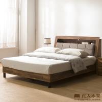 日本直人木業-KELT積層木單層收納6尺附插座立式全木芯板床組