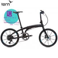 Tern Verge X11 22吋11速鋁合金折疊車-消光黑底黑標-藍線