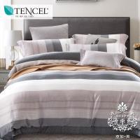 AGAPE亞加‧貝 獨家私花-南風 天絲 雙人特大6x7尺八件式鋪棉兩用被床罩組