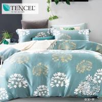 AGAPE亞加‧貝 獨家私花-一簾幽夢 天絲 雙人特大6x7尺八件式鋪棉兩用被床罩組