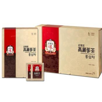 【正官庄】高麗蔘茶(100包/盒)+高麗蔘茶(50包/盒)(加贈提袋)