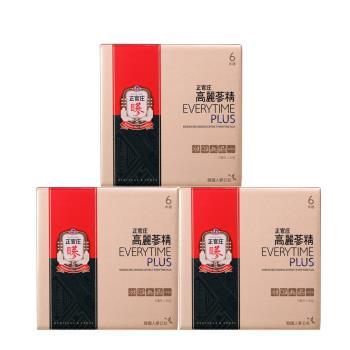 【正官庄】高麗蔘精EVERYTIME PLUS 30包x3盒(加贈高麗蔘茶50包)