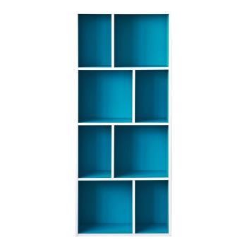 尼克斯-升級款四層八格櫃-藍色