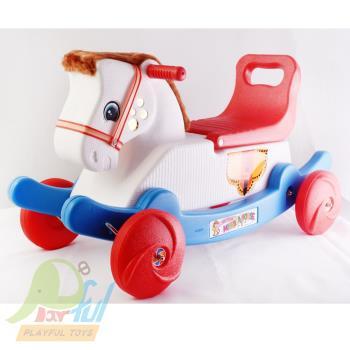 【Playful Toys 頑玩具】蒙古馬91129二合一 搖搖馬 滑步車 幼兒學步車 兒童玩具 騎乘
